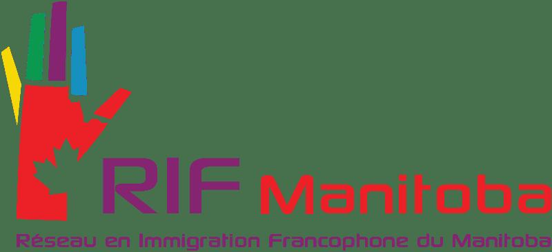 Logo du RIF Manitoba, Réseau en Immigration Francophone du Manitoba