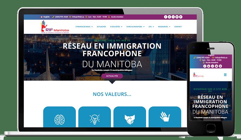 Visitez le nouveau site internet du RIF Manitoba, Réseau en Immigration Francophone du Manitoba